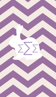 Easter themed Sigma Sigma Sigma iPhone monogram background.  By College is Love. Made with @MonogramApp