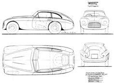 WOW Moss Motors MG Midget Series TC Car Blueprint Scetch