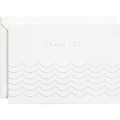 These are pretty - Pearls White 4 Bar Embossed Thank You Notes
