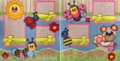 Cute as A Bug Baby Girl 2 Premade Scrapbook Pages Paper Piecing 4 Album Cherry | eBay