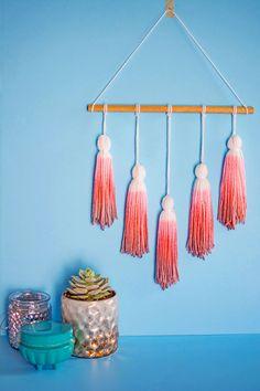 How to make yarn tassels and dip dye with Kool-Aid