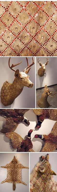 Ok, not faux, but fabulous in its way. Cassandra Smith - Glam Taxidermy - I am in LOVE with this!!! Thanks Marrisa for sending this to me!!!! :)