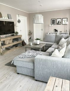 44 best farmhouse living room tv stand design ideas 17 ⋆ All About Home Decor Living Room Sectional, Living Room Remodel, New Living Room, Home And Living, Living Room Furniture, Living Room Decor, Furniture Layout, Furniture Arrangement, Modern Living