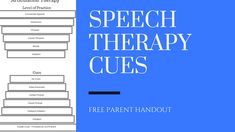 Speech therapy cues are the most important part of speech therapy! Make sure you know what they are and how to use them. Enjoy a free handout too!