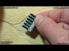 ▶ Peyote Stitch Tutorial: how to make the turn on an odd/even count Peyote beadwork | Beading Tutorial - YouTube