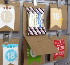 This would be a cute idea for next Christmas for my missionary! ~ Matchbook Advent Calendar chocolate square Amanda Coleman