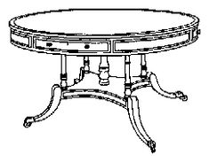 Regency Library Table c 1825