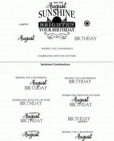 Birthday Classics: August Mini Stamp Set