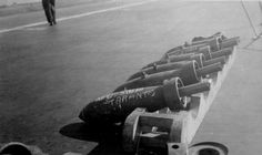 Bombs at the ready prior to Operation Judgment, the attack on Taranto, November, 1940.