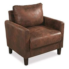 Faux Leather Concealment Chair Living Room Sets, Living Room Chairs, Living Room Furniture, Luxury Home Furniture, Cabin Furniture, Furniture Ideas, Reclaimed Wood Coffee Table, Arc Floor Lamps, Wooden Shelves