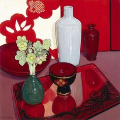 Criss Canning — The Phoenix Tray Painting Still Life, Still Life Art, Flowers In Vase Painting, Drawing Flowers, Painting Corner, Art Addiction, Party Centerpieces, Bouquet, Australian Artists