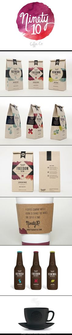 Ninety10 Coffee Co. Coffee Packaging Design By Victoria Richland