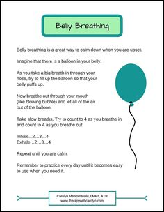 How to Help Your Kids Calm Down: Strategy #1 Balloon Breathing