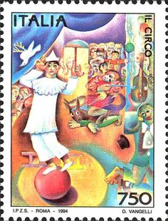 Italy Stamp - Il Circo