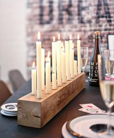 Wooden candle holder by Impressionen