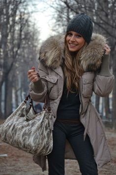pretty winter parka with my kind of hood
