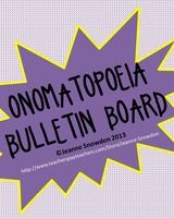 Fun onomatopoeia bulletin board décor with five extender ideas for student reinforcement.