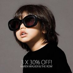 3 X 30% OFF! Use the code AUG3X30 at checkout and buy your fav #KarenWalker and #TheRow sunnies at a special price. #sunglasscurator