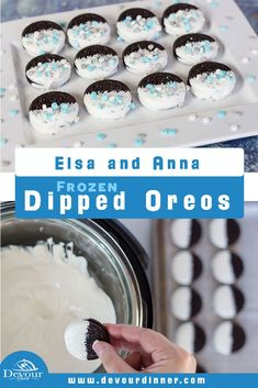 Frozen Dipped Oreos ~ Elsa and Anna Cookies!