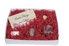 """Valentins-box """"Guten Morgen mein Schatz!"""" Mit der Valentinsbox von ideas in boxes wird der Valentinesday 2014 garantiert etwas ganz besonderes!Mit einem schönen Frühstücksbrett """"Guten Morgen mein Schatz!"""" und einer edlen Kristallseife."""
