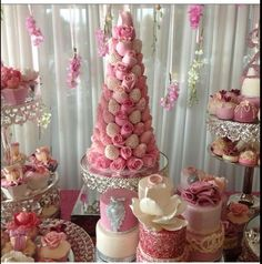 Bridal Shower. White, Blush, and Pink. Strawberry and rose tower