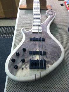 Brooks Cobb Guitars custom lefty bass