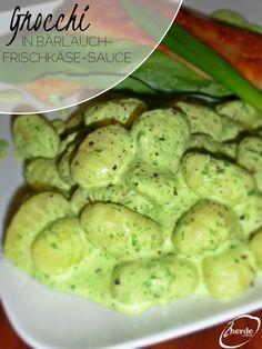 Gnocchi in Bärlauch-Frischkäse-Sauce