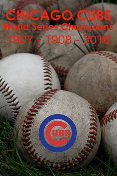 Chicago Cubs World Series championship poster - 1907-1908-2016. #Cubs #ChicagoCubs