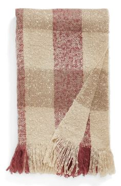 Nordstrom at Home Plaid Throw available at #Nordstrom