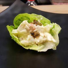 Bacalao de los fiordos mayonesa de ajo alcaparras fritas y chalotas en @momijicocina de @laso_sushi_chef