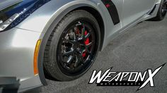 WeaponX Motorsports worked some of their magic, on David C's C7 Corvette Z06, including a custom Ben Herndon tune, Mighty Mouse gen 4 catch can, New Wave window tint, static ride height drop, Continental Extreme Contact DW front tires, Mickey Thompson S/S rear tires, and 18x9/18x11.5 Forgeline GA3 Deep Cap wheels finished with Satin Black/Diamond Cut centers & Gloss Black outers. See more: http://www.forgeline.com/customer_gallery_view.php?cvk=1698 #Forgeline #GA3 #Corvette #C7 #Z06…