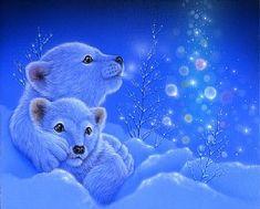 - Art by Kentaro Nishino - Nature Art & Wildlife Art - Airbrushed Wildlife Art. Baby Polar Bears, Pet Tiger, Bear Art, Cute Animal Drawings, Winter Art, Cute Cartoon Wallpapers, Wildlife Art, Animal Paintings, Cute Baby Animals