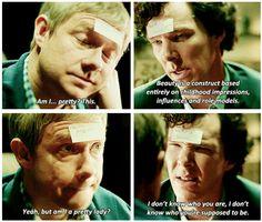 "Sherlock: ""Yeah, but am I a pretty lady?"" (gif)"