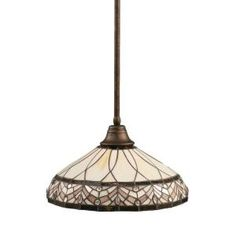 Filament Design Concord 1-Light Bronze Pendant with Royal Merlot Tiffany Glass CLI-TL5005113 at The Home Depot - Mobile