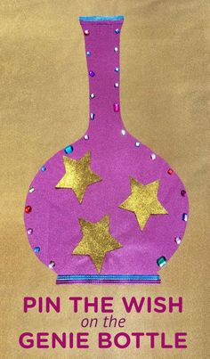Pin the Wish on the Genie Bottle ~ DIY game idea to get ready for the all new season of Shimmer and Shine that premieres on 6/15 at 12/11c on Nickelodeon.