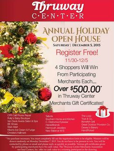 WIN BIG at our Annual Holiday Open House!