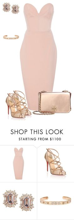 """""""Untitled #820"""" by angela-vitello on Polyvore featuring Christian Siriano, Christian Louboutin, Gucci and Tory Burch #classyoutfits"""