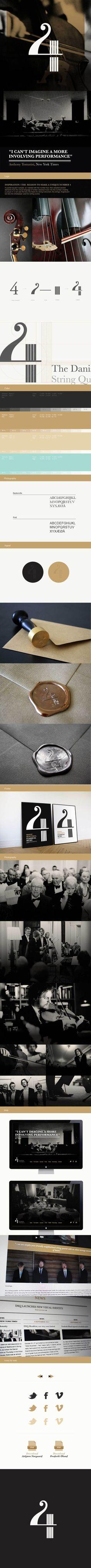 The Danish String Quartet / Corporate identity by Maibritt Lind Hansen, via Behance