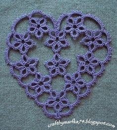 Transmutacje: frywolitka tat-a-renda heart pattern