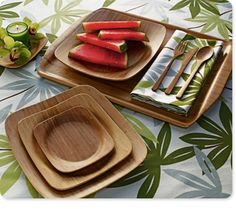 "Here's a quick tip: If your looking to make your party more eco-friendly, start by buying local foods for your party (Cookies and Corks!) and pop over to Crate and Barrel and get these great bamboo dinner plates. It's a great way to welcome Spring and reduce your carbon foot print! plus your guests will appreciate your ""green"" effort ;)"