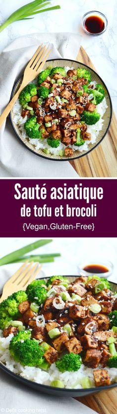Délicieux sauté de brocoli et tofu croustillant avec une sauce asiatique sucrée-salée épicée au gingembre plaira à tous les amoureux de cuisine végétarienne. | Del's cooking twist
