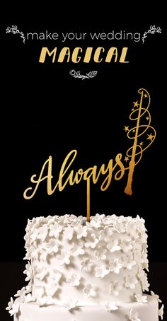 Always Harry Potter Wedding Cake Topper - Perfect for a magical night and Harry Potter inspired wedding