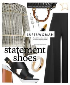 """""""Statement Pieces"""" by cultofsharon ❤ liked on Polyvore featuring Roksanda, Marni, Valentino, Gucci, NOVICA and Kenneth Jay Lane"""