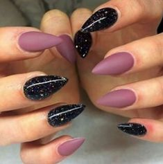 Fearless Stiletto Nail Art Designs, Stiletto nails are oval shaped nails that are more pointed than rounded at the tip, and are usually very long. They have been recently highlighted in . Pointy Nails, Stiletto Nail Art, Acrylic Nails, Nail Nail, Nail Glue, Red Nail, White Nail, Purple Nail, Nail Polish
