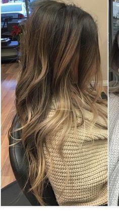 33 blonde or caramel-colored balayage ideas for wonderful hair - Modern Beige Blond, Brown Blonde Hair, Brunette Hair, Brunette Color, Hair Color And Cut, Ombre Hair Color, Hair Highlights, Color Highlights, Honey Highlights