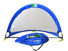 4 ft 2 Goals + 1 Bag Minilism Pop Up Football Goals//Portable Soccer Nets for Backyard/&practice // 2.5 ft Yellow Blue, 2.5FT 6 ft