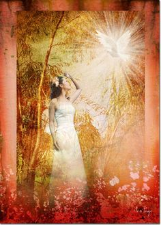 Enter Into His Garden -- by Jennifer Page. Prophetic art painting.