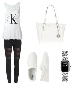 """""""Untitled #179"""" by filomenamaria ❤ liked on Polyvore featuring Calvin Klein Jeans, MICHAEL Michael Kors, Uniqlo and Chanel"""