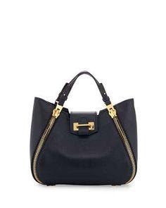 Sedgwick Mini Zipper Tote Bag, Sapphire Blue by Tom Ford at Neiman Marcus.