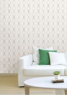 A chic silver and white pairing, this geometric peel and stick wallpaper add style to your room in just minutes! #windowfilmworld #windowfilm #Walldecor #wallmural #homedecor
